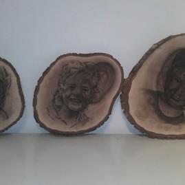 Portretten met houtskool